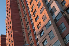 Modern generic apartment house in Moscow Stock Photo
