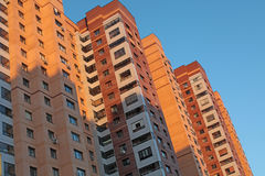 Modern generic apartment house in Moscow Stock Photos