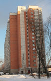 Modern generic apartment house in Moscow Stock Photography