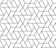 MODERN GEOMERTIC LINEAR SEAMLESS VECTOR PATTERN. MONOCHROME MESH TRELLIS. Stock Photography