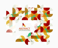 Modern geometric abstract background, circles on white. Vector template background for workflow layout, diagram, number options or web design Royalty Free Stock Images
