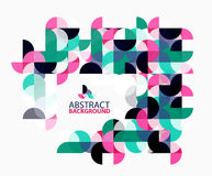 Modern geometric abstract background, circles on white. Vector template background for workflow layout, diagram, number options or web design Royalty Free Stock Photos