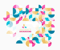 Modern geometric abstract background, circles on white. Vector template background for workflow layout, diagram, number options or web design Royalty Free Stock Photography