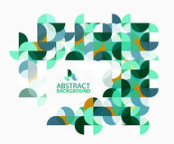 Modern geometric abstract background, circles on white. Vector template background for workflow layout, diagram, number options or web design Stock Photography