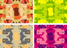Modern geometric background in colorful variations Stock Photo