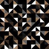 A gold and black geometric background Stock Images