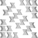 Gray triangles with shadow white background patterns royalty free illustration