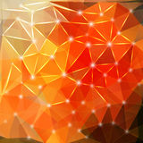 Modern geometric background with polygons, crystal Royalty Free Stock Photos