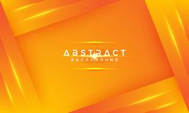 Modern geometric backgrounds with a mixture of yellow and orange, can be used to put your text. 3D orange background with 3D style stock illustration