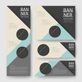 Modern geometric banner template design Stock Images