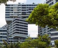 Modern geometric buildings Stock Image