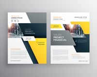 Modern geometric business brochure flyer poster template design. Vector Stock Photo