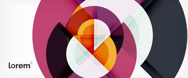 Modern geometric circles abstract background, colorful round shapes with shadow effects. Vector illustration vector illustration