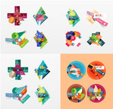 Modern geometric design temlates, universal Stock Photos