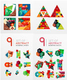 Modern geometric design temlates, universal Royalty Free Stock Photos
