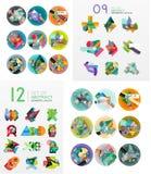 Modern geometric design temlates, universal Stock Images