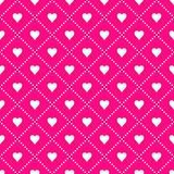 MODERN GEOMETRIC  GRID SEAMLESS VECTOR PATTER. DOTS SQUARE IN HEART. LOVE VALENTINES DAY BACKGROUND. MESH SEAMLESS VECTOR PATTERN. CRAZY HEART ELEMENTS FOR Stock Photography