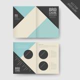 Modern geometric half-fold brochure Stock Photography