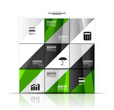 Modern geometric infographic banner template Royalty Free Stock Photo