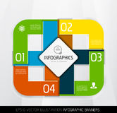Modern geometric infographics Stock Photo