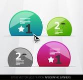 Modern geometric infographics Royalty Free Stock Image