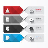 Modern Geometric Infographics Design template / can be used for. Infographics /  banners /  graphic or website layout vector Stock Image