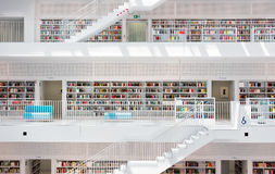 Modern Geometric Interior Architecture Stuttgart City Library Germany Stock Photo