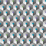 Modern-Geometric-Pattern-003 Stock Images