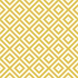 Modern geometric rhombus seamless pattern. Repetitive vector design in yellow and white. Perfect for wallpaper, texture, tiles, fabric, etc vector illustration