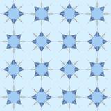 Modern geometric seamless pattern, blue ornament. Ethnic seamless pattern. Use for wallpaper, pattern fills, web page background Stock Images