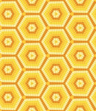 Modern geometric seamless pattern of brown, orange and yellow colors Stock Photo