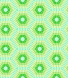 Modern geometric seamless pattern in green colors Stock Image