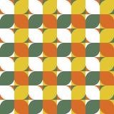 Modern geometric seamless pattern. Mid century style. Vector background royalty free illustration