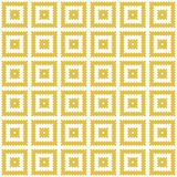 Modern geometric seamless pattern. Repetitive vector design in yellow and white. Perfect for wallpaper, texture, tiles, fabric, etc stock illustration