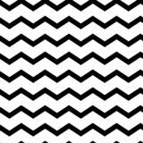 Modern geometric seamless pattern zig zag. Black waves. Classic striped retro background. Vector illustration stock illustration