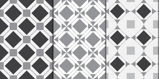 Modern geometric seamless patterns abstract background. Vector illustration Royalty Free Stock Images