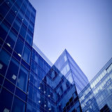 Modern geometric skyscrapers Royalty Free Stock Photos