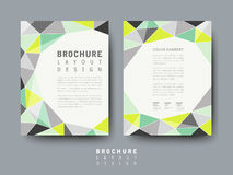 Modern geometric style flyer template Stock Photos