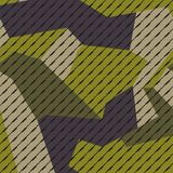 Modern geometric style green texture military camouflage royalty free illustration