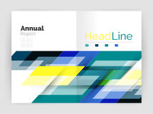 Modern geometric templates. Business flyer brochure or annual report covers royalty free illustration