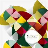 Modern geometrical abstract background circles. Modern geometrical abstract background - circles. Business or technology presentation design template, brochure Royalty Free Stock Photos