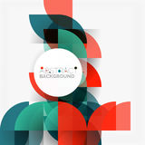 Modern geometrical abstract background circles. Modern geometrical abstract background - circles. Business or technology presentation design template, brochure Stock Photos