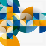 Modern geometrical abstract background circles. Modern geometrical abstract background - circles. Business or technology presentation design template, brochure Stock Photography