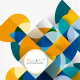 Modern geometrical abstract background circles. Modern geometrical abstract background - circles. Business or technology presentation design template, brochure Royalty Free Stock Photography