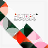 Modern geometrical abstract background circles. Modern geometrical abstract background - circles. Business or technology presentation design template, brochure Royalty Free Stock Image