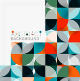 Modern geometrical abstract background circles. Modern geometrical abstract background - circles. Business or technology presentation design template, brochure Stock Photo