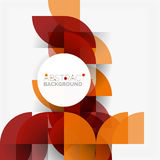 Modern geometrical abstract background circles. Modern geometrical abstract background - circles. Business or technology presentation design template, brochure Stock Image