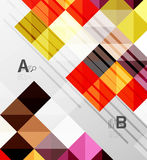 Modern geometrical abstract background, squares Stock Photography