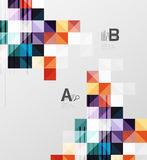 Modern geometrical abstract background, squares. With infographics sample text Stock Image