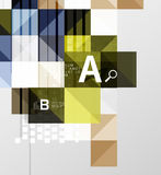 Modern geometrical abstract background, squares Stock Photos